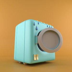washing machine cartoon model
