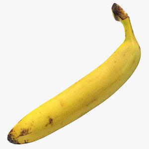 3D banana 01 model