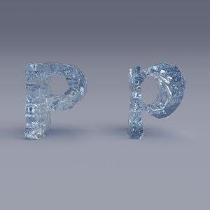 letter p 3D