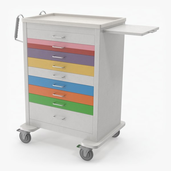 3D pediatric medical cart model