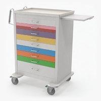 3D pediatric medical cart model