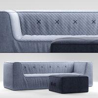 3D koskela quadrant soft sofa