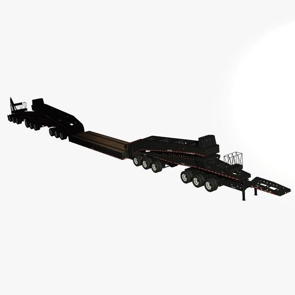 trail king tk220 trailer 3D model