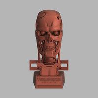 terminator genisys t-800 skull model