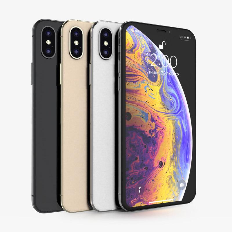 apple iphone xs colors 3D model