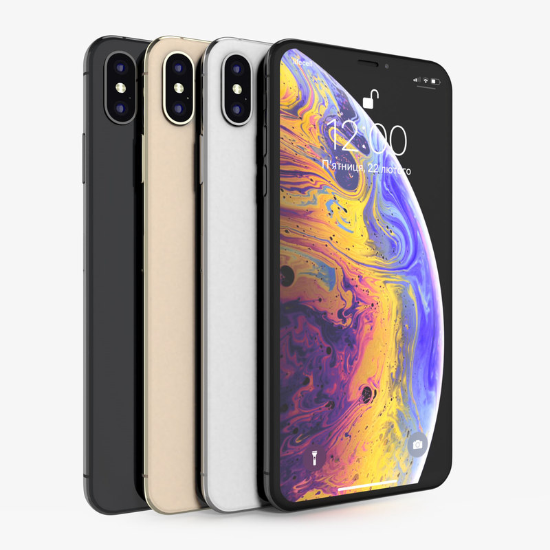 3D apple iphone xs colors model