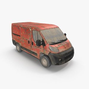 rusty van 3D model