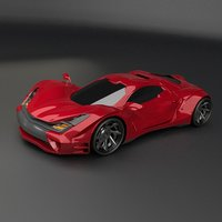 design concept sports car fbx