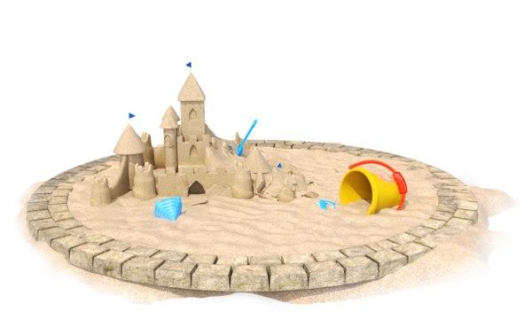sandcastle toys sand 3D