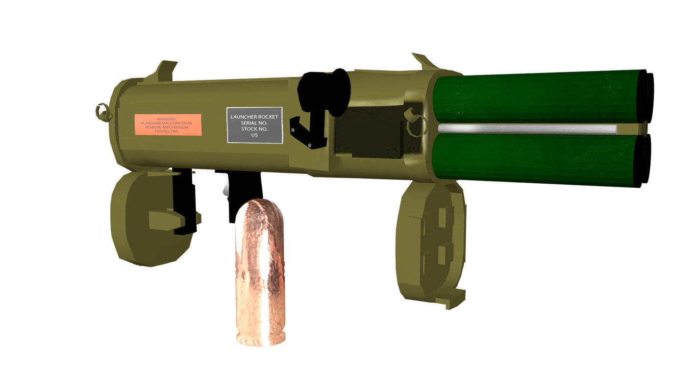 3D rigged rocket launcher