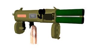 3D rigged rocket launcher