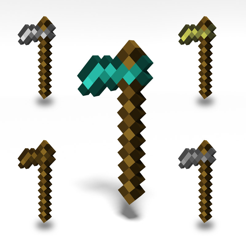 minecraft hoe 3D model