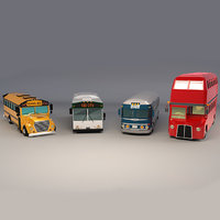 Low Poly Bus Pack
