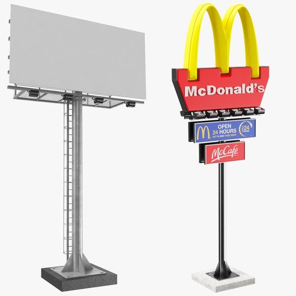 3D billboard signs model