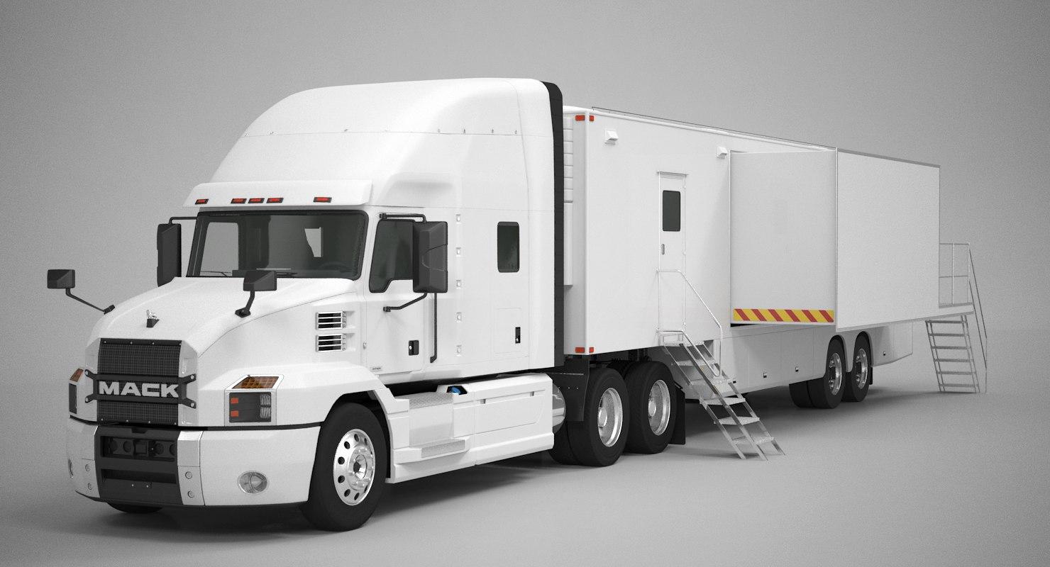 3D exhibition semi truck
