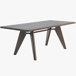 vitra table solvay 3D model