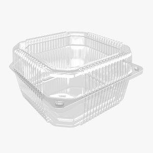3D plastic container