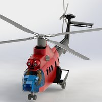 3D model airbus helicopters eurocopter as332