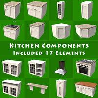 3D kitchen components