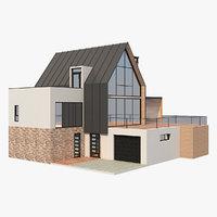 modern barn house 4 model