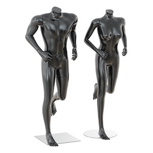 3D running mannequin man woman model