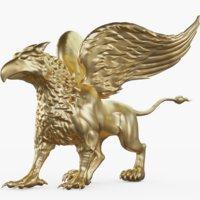 gargoyle statue 3D