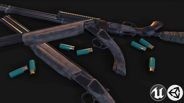 vertical shotgun 3D model