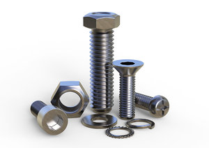 3D nuts bolts