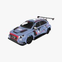 3D hyundai i30 n tcr model