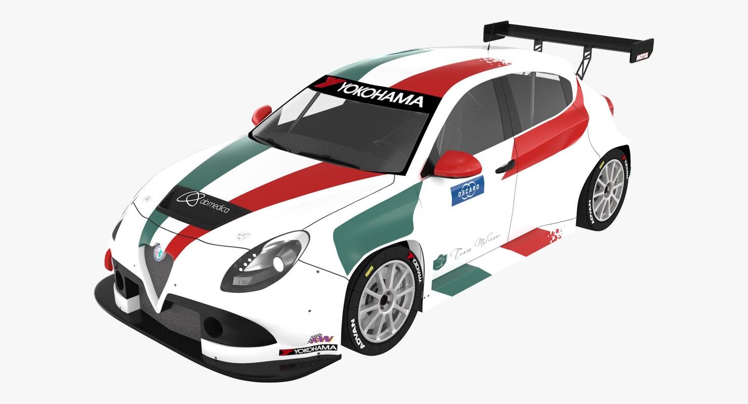 alfa romeo giulietta tcr 3D model