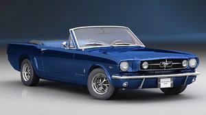 3D mustang gt 1965 cabrio