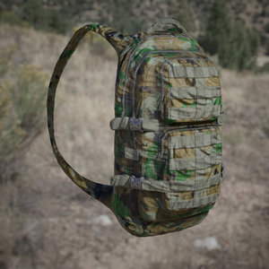3D military backpack camos jungle
