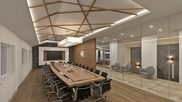3D office interior conference room model