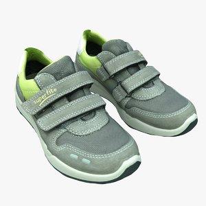 retopology superfit kids sports shoes 3D model