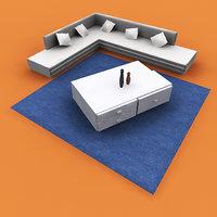 sofa set 3D model