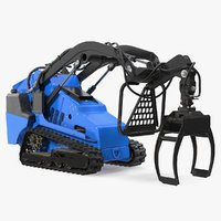 3D model mini skid steer grapple