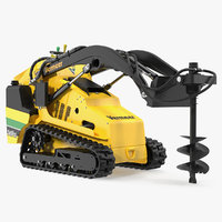 3D mini skid steer loader