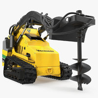 mini skid steer vermeer 3D model