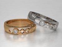 3D printable wedding ring gemstone
