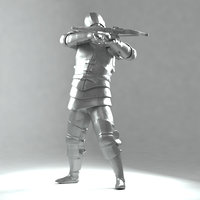 Crossbowman later middle ages 3D print model(1)