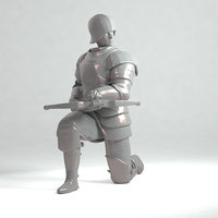 Crossbowman later middle ages 3D print model