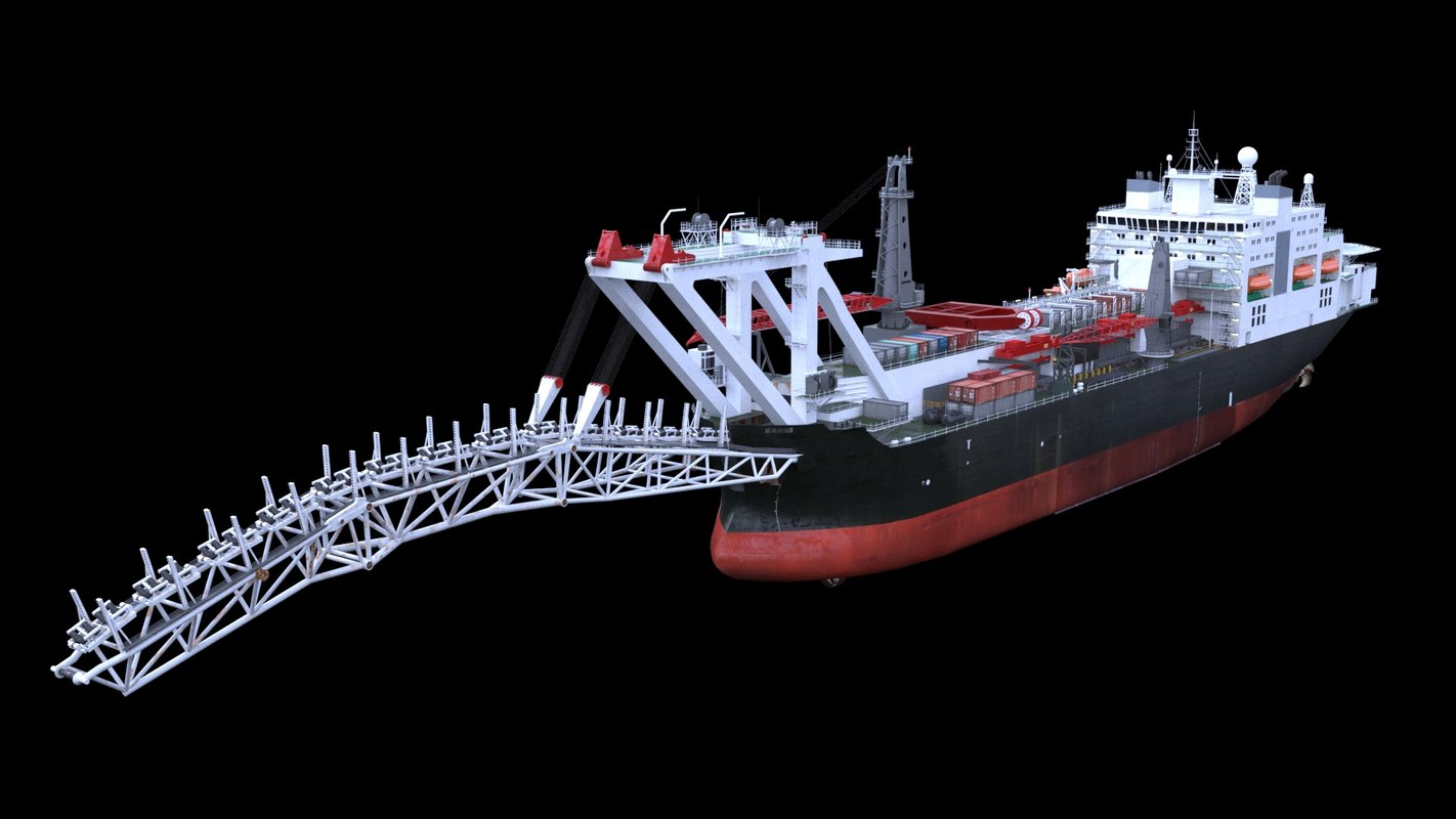 pipelay vessel 3D model