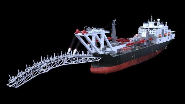 pipelay vessel 3D model