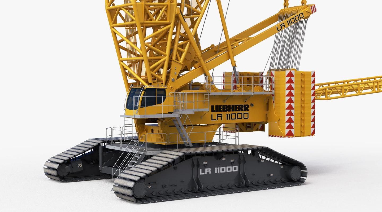 LIEBHERR LR 11000 Heawy Crawler Crane Rigged