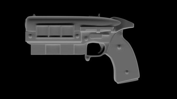 3D pistol fallout