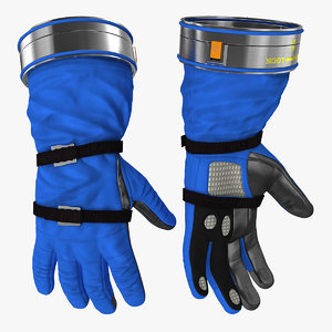 boeing spacesuit gloves space 3D model