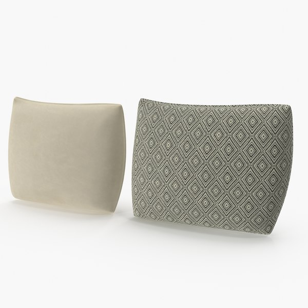 rectangular pillows set 02 3D