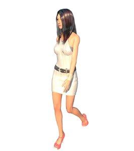 girl east asia 3D