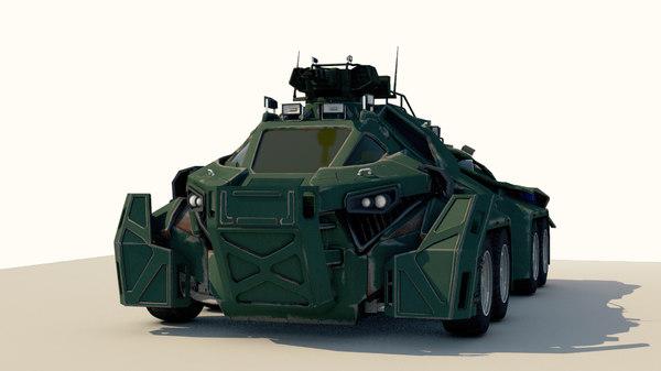 3D car military sci-fi model