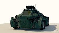 Sci-Fi Military Car